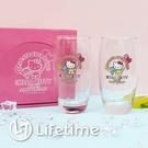 ﹝Kitty經典款玻璃杯2入禮盒﹞正版 玻璃杯 水杯 禮盒 透明杯 凱蒂貓 送禮〖LifeTime一生流行館〗