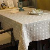 加厚棉麻格子桌布圓桌臺布蓋巾簡約現代餐桌布藝