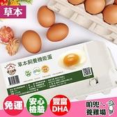 【下單後10-14天出貨】【咱兜ㄟ養雞場】草本DHA飼養機能雞蛋 紅殼 40顆宅配禮盒組 10入/4盒 雞蛋