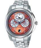 CITIZEN 光動能全日曆計時腕錶-香檳色 BU0011-63Z