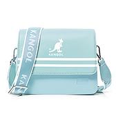 KANGOL 水藍色掀蓋側背方包-NO.6025300281