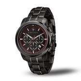 MASERATI 瑪莎拉蒂 SUCCESSO黑鋼多功能腕錶44mm(R8873621014)