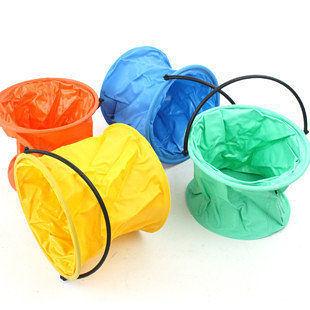 大號折疊式彩色洗筆水桶 塑膠寫生桶 伸縮桶 不分割