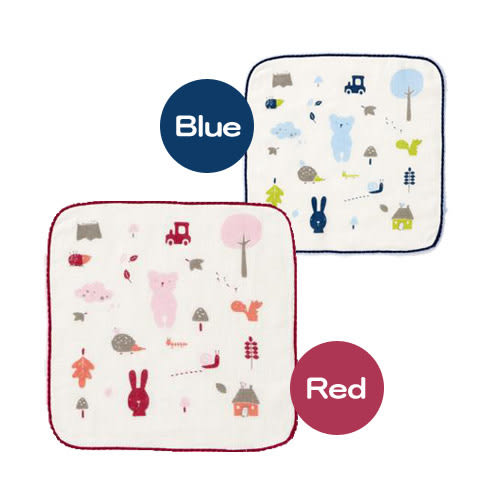奇哥 紗布毛巾-方巾 (紅/藍)【佳兒園婦幼館】