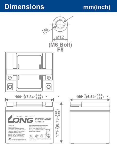LONG12V50AH兩顆一組(含充電器)