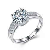 925純銀戒指 鑲鑽-時尚浪漫生日情人節禮物女配件73an147【巴黎精品】