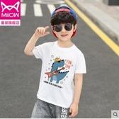 2020夏裝新款男童短袖T恤兒童潮童裝中大童寬鬆純棉半袖韓版上衣4 童趣屋