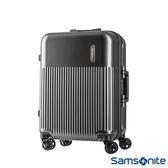 Samsonite 新秀麗 24吋Rexton直線條鋁框PC硬殼行李箱(碳灰)