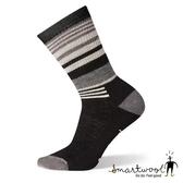 Smartwool 女 中級減震型徒步條紋中長襪『黑色』SW001018 美國製|保暖襪|登山襪|運動襪