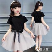 中大尺碼童裝女童套裝新款兒童韓版套裙衣服女公主短袖兩件套 zm5197『男人範』