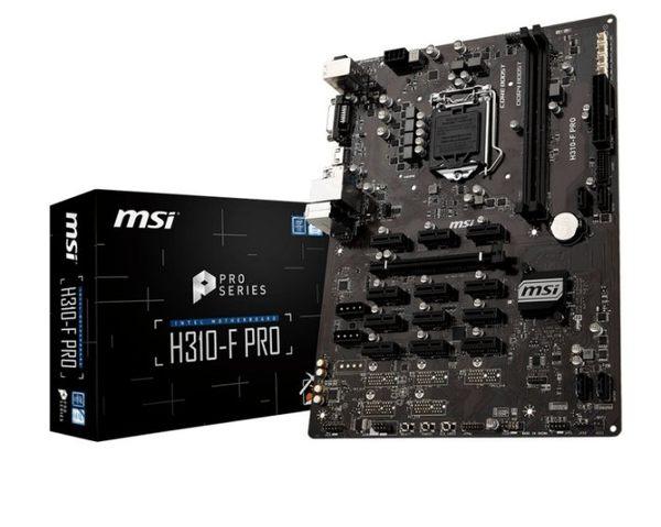微星 MSI H310-F PRO 挖礦專用板最多可支援13張卡,Intel 網卡【刷卡含稅價】