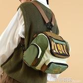 大學生上課包書包原創小眾背包雙肩斜挎包女大容量兩用包 卡布奇諾