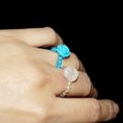 【喨喨飾品】天然石玫瑰花戒指(有彈性) S412
