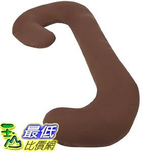 [美國直購] Leachco 拉鍊式 孕婦枕套 咖啡色 Snoogle Chic Jersey - Snoogle Replacement Cover Zipper 100% Cotton Knit
