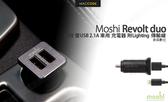 Moshi Revolt duo Lightning 高效 雙USB 2.1A 車用 充電器 附Lightning 傳輸線