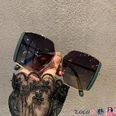 墨鏡 2021韓版新款大框方形潮偏光墨鏡女大臉遮陽開車駕駛街拍太陽眼鏡 coco