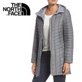 【The North Face 美國 女款 ThermoBall 長版兜帽外套《中灰》】364B/防潑水防風//暖魔球