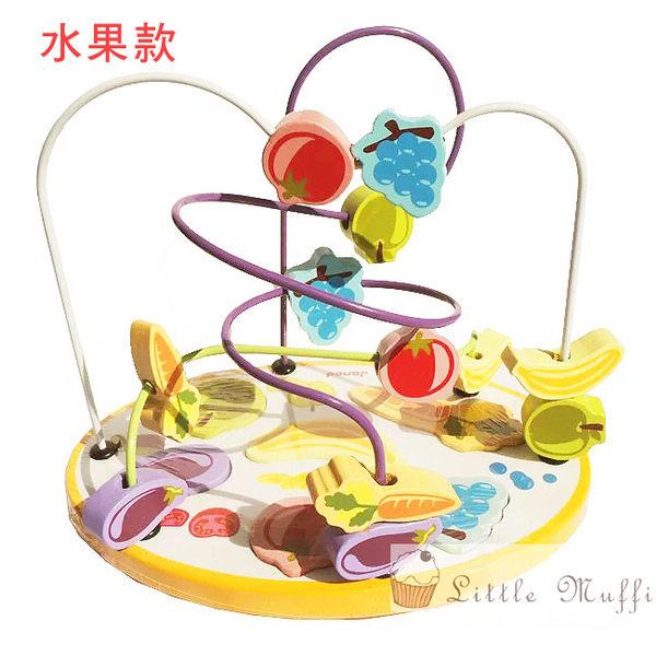 法國Janod 原木製造 維他命色系幾何形狀多way繞珠益智玩具/拼圖 無毒環保漆 水果款
