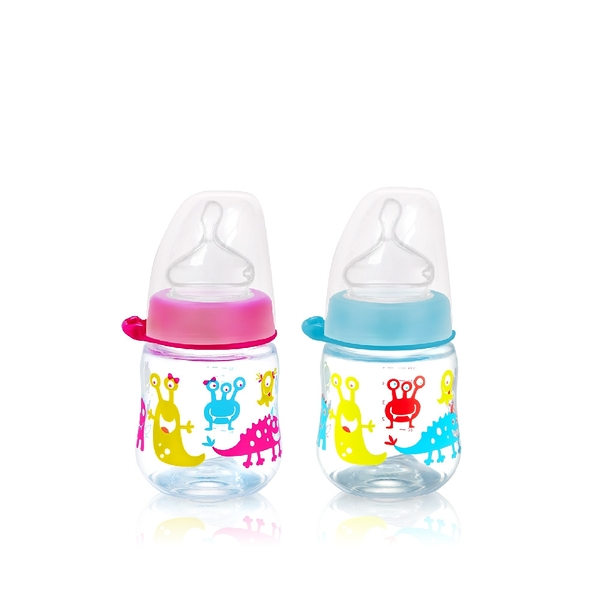 nip 德國拇指型防脹氣PP奶瓶-150ml 桃紅/藍 (M號奶嘴) x 1 G-35056/G-35055-00-FF