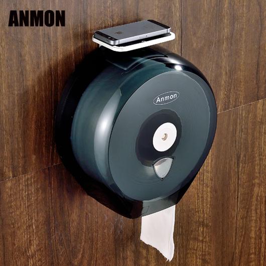 酒店衛生間塑料大捲紙盒大捲紙架廁紙架防水大盤紙巾架 快意購物網
