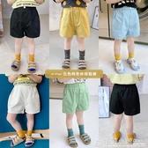 童裝寶寶短褲夏季新款中小兒童純色五分褲男童薄款休閒褲子潮 格蘭小舖