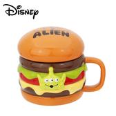 【日本正版】三眼怪 漢堡造型 馬克杯 300ml 附蓋子 咖啡杯 玩具總動員 迪士尼 Disney - 249160
