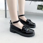 娃娃鞋 鬆糕鞋女日系jK制服鞋原宿圓小蝴蝶結頭小皮鞋厚底軟妹鞋子 - 古梵希