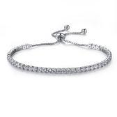 Mao 【5折超值價】  情人節禮物最新款時尚精美單排鑲鑽造型女款鍍白金手鍊