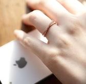 X造型鑲鑽戒指(#7號戒圍) (2色)  D065  情人節禮物【Vogues唯格思】