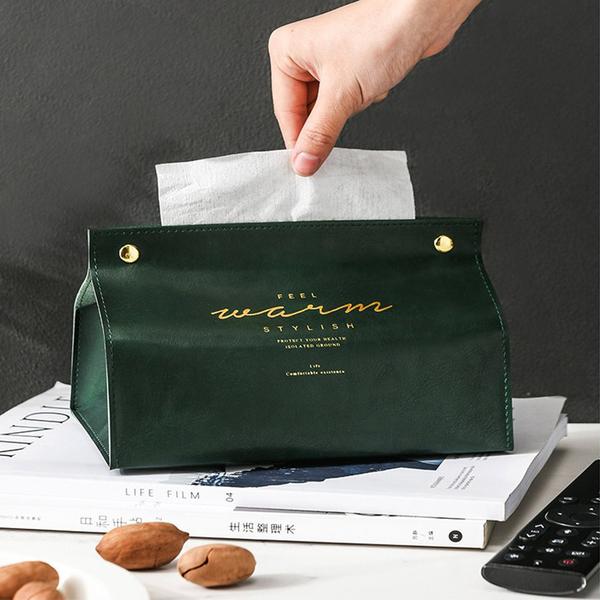 北歐皮革面紙套 面紙盒 抽紙套 抽紙盒 衛生紙盒 衛生紙套 北歐復古按扣式抽紙盒【Z90528】