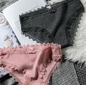 4條裝 少女士純棉內褲女蕾絲低腰性感火辣中腰式女生三角短褲衩頭  百搭潮品