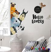 壁貼【橘果設計】動物 DIY組合壁貼 牆貼 壁紙 室內設計 裝潢 無痕壁貼 佈置