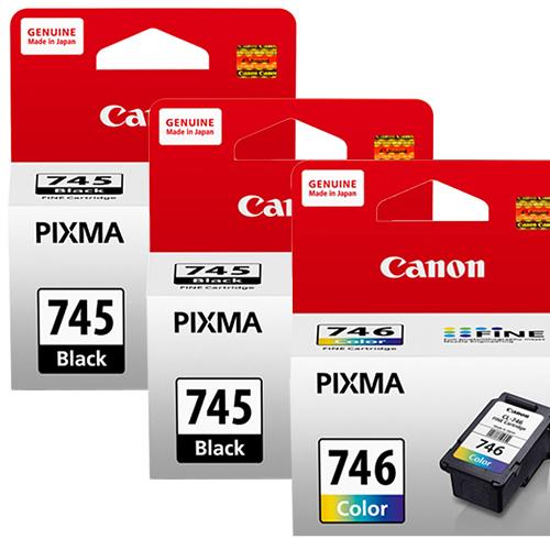 CANON PG-745+CL-746 墨水匣組 (2黑1彩)