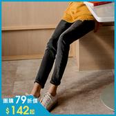 《BA5154-》3D立體塑型視覺修身內刷毛-5KG牛仔窄管褲 OB嚴選