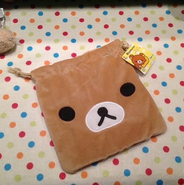 【發現。好貨】懶懶熊 拉拉熊造型好用 毛茸茸萬用縮口袋 束口袋 拍得立相機袋 化妝包