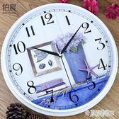 創意掛鐘 客廳鐘表現代簡約石英鐘時尚時鐘掛表地中海裝飾壁鐘 DN17188『東京潮流』TW