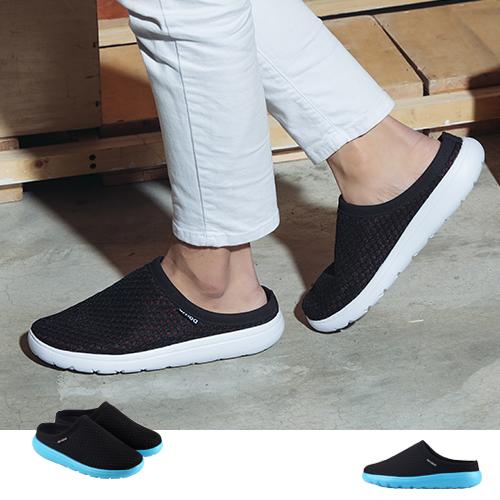 男款 前包後空網眼超輕量透氣 鳥巢拖鞋 懶人拖鞋 運動拖鞋 張菲鞋 59鞋廊