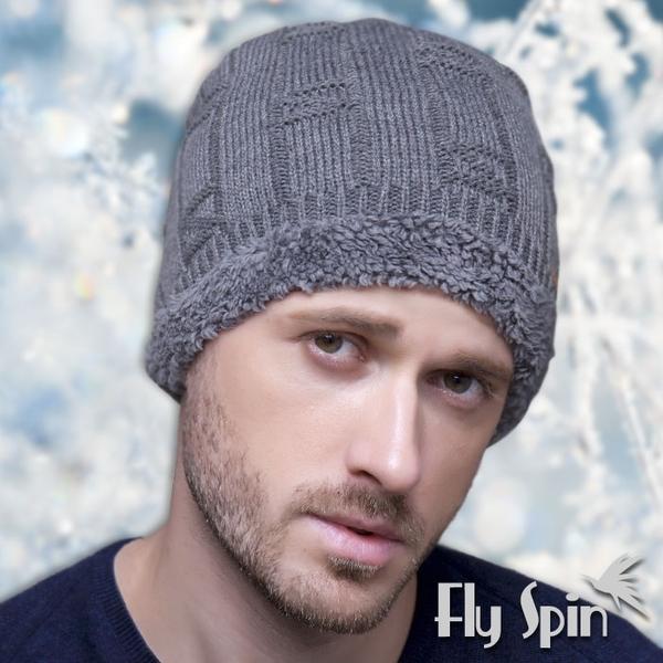 保暖針織帽-男款加厚長毛絨針織毛線帽16AW-N006H FLY SPIN