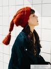 個性韓國少女流蘇辮子毛線帽子女冬天可愛韓...