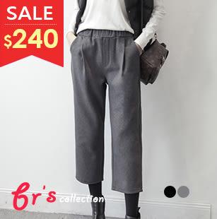 【brs】 長褲 棉質 鬆緊帶 西裝剪裁 俐落 極舒適 西裝褲 2色 現貨