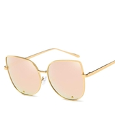 太陽鏡彩膜時尚貓眼鏡 金屬墨鏡太陽眼鏡【多多鞋包店】y83