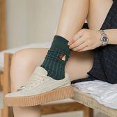 【TT】堆堆襪 秋冬韓版學院風韓國可愛日系純色保暖羊毛中筒襪長襪
