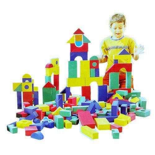 【奇買親子購物網】EVA創意積木/軟質發泡ST安全玩具/68片入