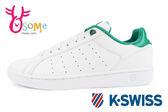 K-Swiss Clean Court CMF休閒鞋 女鞋 真皮 運動鞋C9943#白綠◆OSOME奧森鞋業