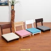 榻榻米椅子靠背椅日式懶人椅藤編實木和室椅飄窗床上單人無腿座椅 快速出貨