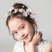 髮飾 兒童頭飾公主女孩演出禮服配飾花環發箍女童生日發飾花童婚紗頭花 歐雷爾藝術館