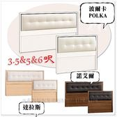 【水晶晶家具】波爾卡3.5呎單人乳膠皮床頭片~~三色可選 JM8173-11