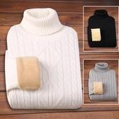 冬季加絨加厚男士毛衣高領韓版純色學生男長袖針織衫復古潮流男裝 童趣