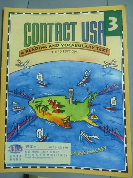 【書寶二手書T2/語言學習_PFG】Contact USA-A Reading and Vocabulary Text_
