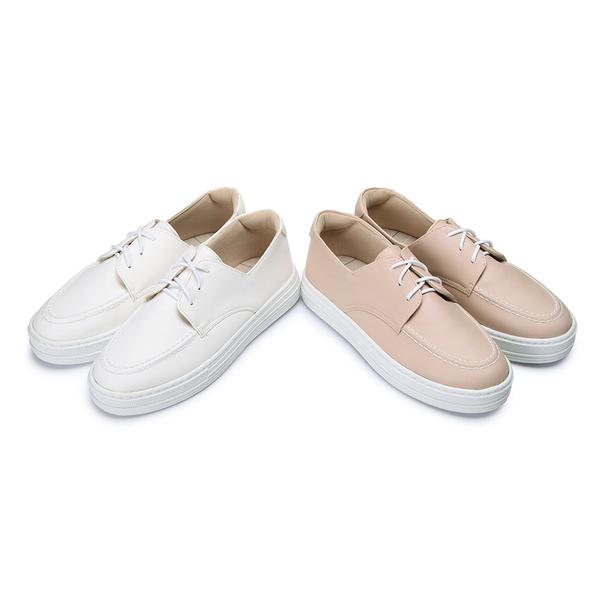 【富發牌】小仙女綁帶厚底休閒鞋-白/粉  1BR107